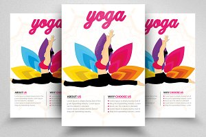 Yoga Club PSD Flyer Templates