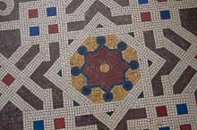 Mosaic Details on the Floor of by  in Animals