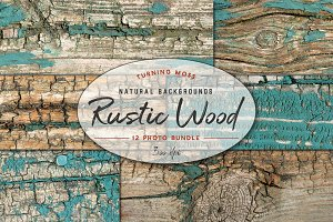 Rustic Wood Background Texture Bundl