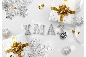 Xmas design. Christmas background.