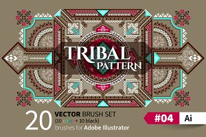 Tribal Pattern Brush #04