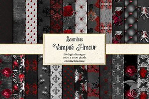 Vampire Amour Digital Paper