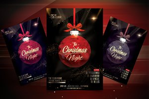 The Christmas Night - PSD flyer