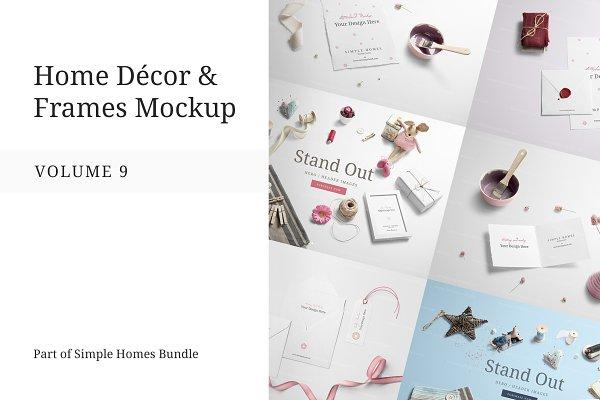 Home Decor and Frames Mockup Vol. 9