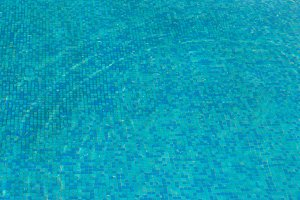 Blue sunny water surface