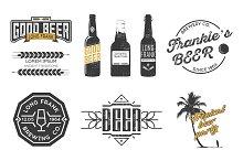 Vector beer labels.