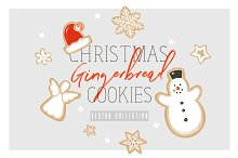Christmas cookies vector collection