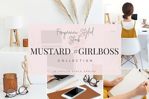 Mustard #girlboss-fall styled stock