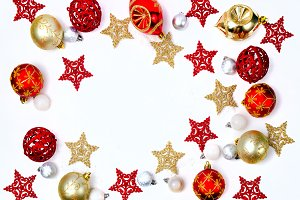 Christmas background on white