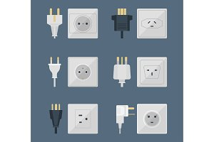 Electric plugs stack outlet
