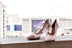 Bridal Wedding Shoes In Pastel Color
