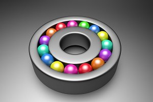 Colored balls bearing
