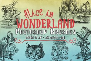 Alice In Wonderland Brushes & Vector
