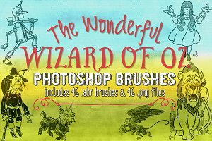Wizard of Oz Photoshop Brushes