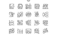Graphic Dashboard Line Icons