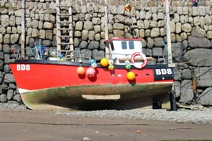 Fishing Boat with Decorations