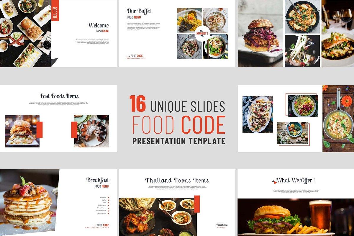 Food PowerPoint Presentation ~ PowerPoint Templates