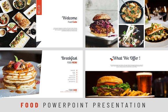 food powerpoint presentation presentation templates creative market
