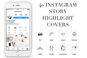Set of 40 Instagram Story Highlights