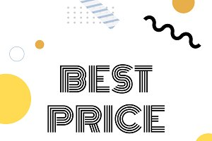 Best price announcement vector