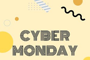 Cyber monday online shopping vector