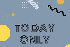 Today only sale announcement vector