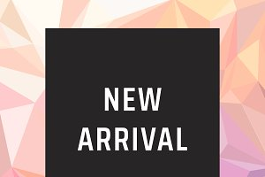New arrival product poster vector