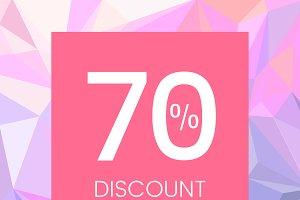 70 percent discount sale vector