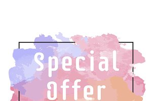 Special offer promotion sign vector