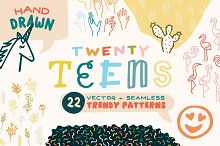 """Twenty Teens"" Trendy Patterns by  in Patterns"