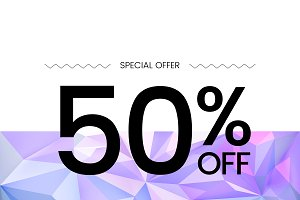 Special offer 50% off vector