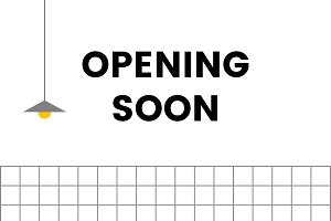 opening soon board sign vector