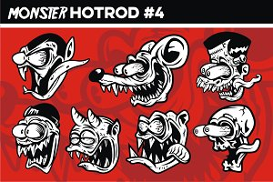 MONSTER HOTROD HEAD #4