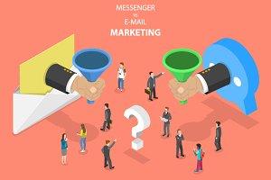 E-mail vs messenger marketing