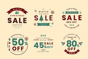 Set of Christmas promotion vectors