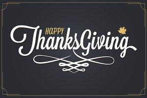 Thanksgiving vintage lettering