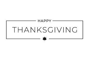 Thanksgiving border card on white