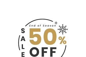 Christmas sale 50% off vector