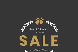 Christmas special sale 45% vector