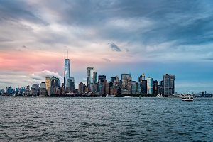 Skyline and waterfront of New York