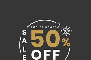 Christmas special sale 50% vector