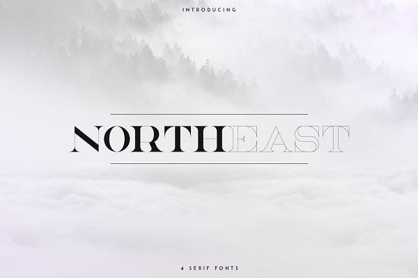 Serif Fonts - NorthEast - 4 serif fonts