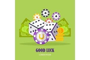 Good Luck Concept Vector Banner In