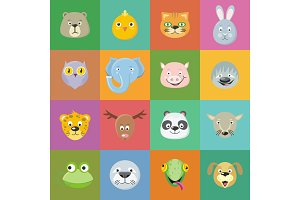 Collection of Cute Animal Faces