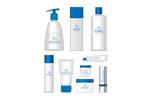 Sea Series Cosmetic Set Isolated