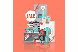 Big Super Web Sale Banner. Household