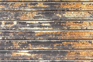 Rusty shutters of a garage.