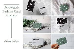 Photographic Business Card Mockup