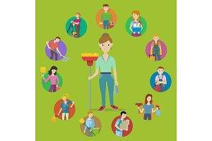 Cleaning Service Concept Vector in