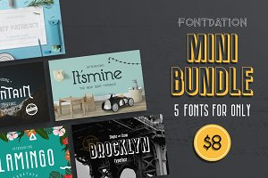 Mini Bundle - 5 Fonts